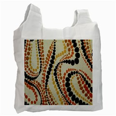 Polka Dot Texture Fabric 70s Orange Swirl Cloth Pattern Recycle Bag (Two Side)