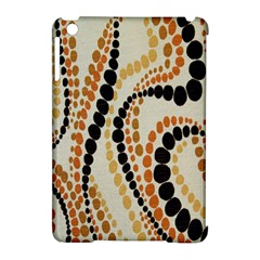 Polka Dot Texture Fabric 70s Orange Swirl Cloth Pattern Apple iPad Mini Hardshell Case (Compatible with Smart Cover)