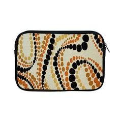 Polka Dot Texture Fabric 70s Orange Swirl Cloth Pattern Apple iPad Mini Zipper Cases