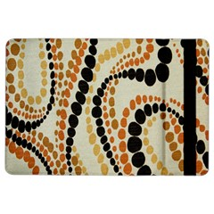 Polka Dot Texture Fabric 70s Orange Swirl Cloth Pattern Ipad Air 2 Flip