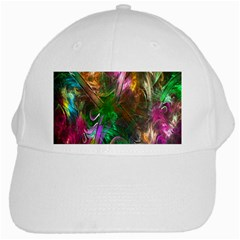 Fractal Texture Abstract Messy Light Color Swirl Bright White Cap