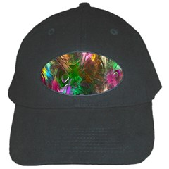 Fractal Texture Abstract Messy Light Color Swirl Bright Black Cap