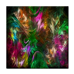 Fractal Texture Abstract Messy Light Color Swirl Bright Tile Coasters