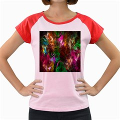 Fractal Texture Abstract Messy Light Color Swirl Bright Women s Cap Sleeve T Shirt
