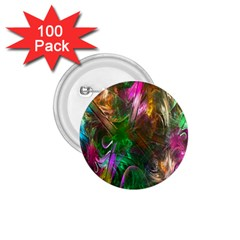 Fractal Texture Abstract Messy Light Color Swirl Bright 1 75  Buttons (100 Pack)