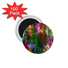 Fractal Texture Abstract Messy Light Color Swirl Bright 1.75  Magnets (100 pack)