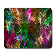 Fractal Texture Abstract Messy Light Color Swirl Bright Large Mousepads