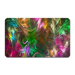 Fractal Texture Abstract Messy Light Color Swirl Bright Magnet (Rectangular)