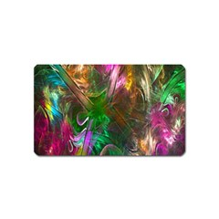 Fractal Texture Abstract Messy Light Color Swirl Bright Magnet (name Card)