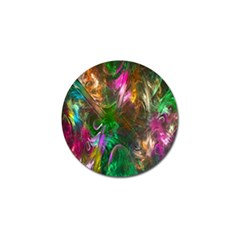 Fractal Texture Abstract Messy Light Color Swirl Bright Golf Ball Marker (4 Pack)