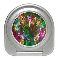 Fractal Texture Abstract Messy Light Color Swirl Bright Travel Alarm Clocks
