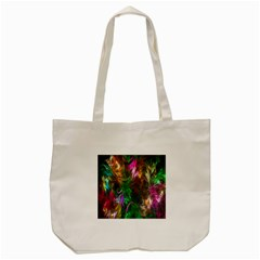 Fractal Texture Abstract Messy Light Color Swirl Bright Tote Bag (Cream)
