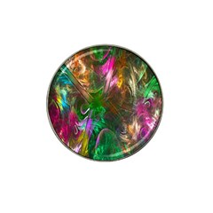 Fractal Texture Abstract Messy Light Color Swirl Bright Hat Clip Ball Marker