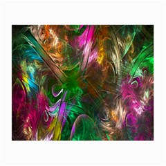 Fractal Texture Abstract Messy Light Color Swirl Bright Small Glasses Cloth