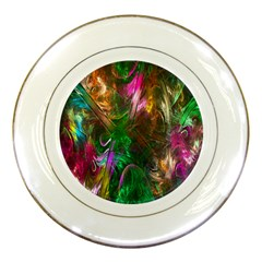 Fractal Texture Abstract Messy Light Color Swirl Bright Porcelain Plates