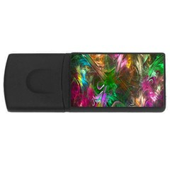 Fractal Texture Abstract Messy Light Color Swirl Bright USB Flash Drive Rectangular (4 GB)