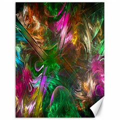 Fractal Texture Abstract Messy Light Color Swirl Bright Canvas 12  x 16