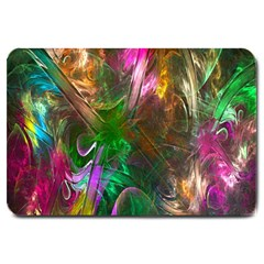 Fractal Texture Abstract Messy Light Color Swirl Bright Large Doormat