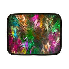 Fractal Texture Abstract Messy Light Color Swirl Bright Netbook Case (small)