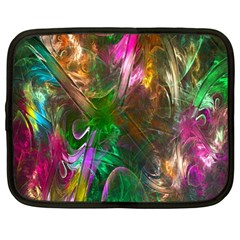 Fractal Texture Abstract Messy Light Color Swirl Bright Netbook Case (Large)