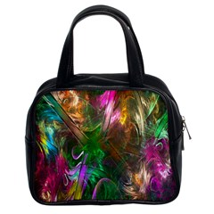 Fractal Texture Abstract Messy Light Color Swirl Bright Classic Handbags (2 Sides)