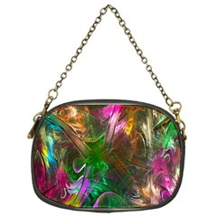 Fractal Texture Abstract Messy Light Color Swirl Bright Chain Purses (one Side)