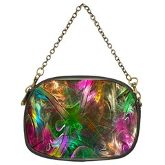 Fractal Texture Abstract Messy Light Color Swirl Bright Chain Purses (Two Sides)