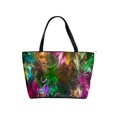 Fractal Texture Abstract Messy Light Color Swirl Bright Shoulder Handbags