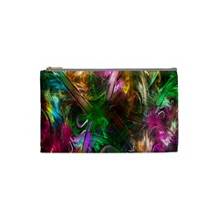 Fractal Texture Abstract Messy Light Color Swirl Bright Cosmetic Bag (small)