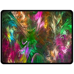 Fractal Texture Abstract Messy Light Color Swirl Bright Fleece Blanket (Large)