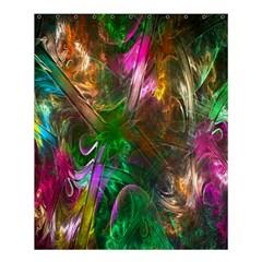 Fractal Texture Abstract Messy Light Color Swirl Bright Shower Curtain 60  x 72  (Medium)