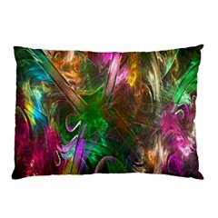 Fractal Texture Abstract Messy Light Color Swirl Bright Pillow Case (Two Sides)