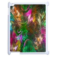 Fractal Texture Abstract Messy Light Color Swirl Bright Apple iPad 2 Case (White)