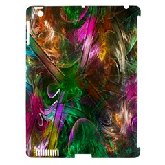 Fractal Texture Abstract Messy Light Color Swirl Bright Apple iPad 3/4 Hardshell Case (Compatible with Smart Cover)