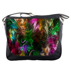 Fractal Texture Abstract Messy Light Color Swirl Bright Messenger Bags