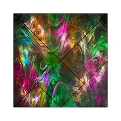 Fractal Texture Abstract Messy Light Color Swirl Bright Acrylic Tangram Puzzle (6  x 6 )