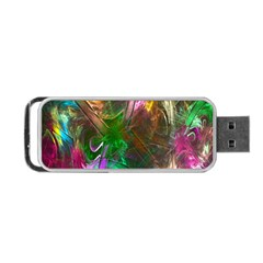 Fractal Texture Abstract Messy Light Color Swirl Bright Portable Usb Flash (one Side)