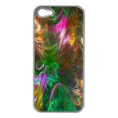 Fractal Texture Abstract Messy Light Color Swirl Bright Apple iPhone 5 Case (Silver)