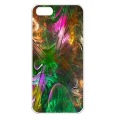 Fractal Texture Abstract Messy Light Color Swirl Bright Apple iPhone 5 Seamless Case (White)