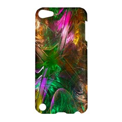 Fractal Texture Abstract Messy Light Color Swirl Bright Apple iPod Touch 5 Hardshell Case