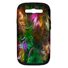 Fractal Texture Abstract Messy Light Color Swirl Bright Samsung Galaxy S III Hardshell Case (PC+Silicone)