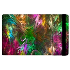 Fractal Texture Abstract Messy Light Color Swirl Bright Apple Ipad 2 Flip Case