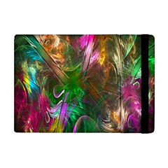 Fractal Texture Abstract Messy Light Color Swirl Bright Apple iPad Mini Flip Case