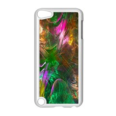 Fractal Texture Abstract Messy Light Color Swirl Bright Apple iPod Touch 5 Case (White)