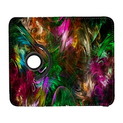 Fractal Texture Abstract Messy Light Color Swirl Bright Galaxy S3 (Flip/Folio)