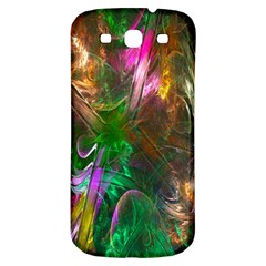Fractal Texture Abstract Messy Light Color Swirl Bright Samsung Galaxy S3 S III Classic Hardshell Back Case