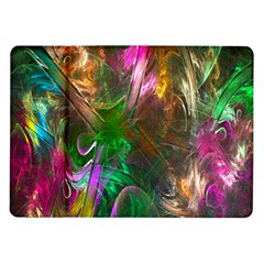 Fractal Texture Abstract Messy Light Color Swirl Bright Samsung Galaxy Tab 10.1  P7500 Flip Case