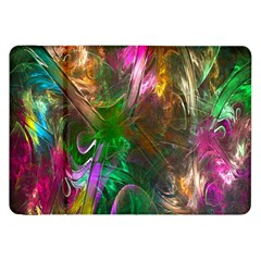 Fractal Texture Abstract Messy Light Color Swirl Bright Samsung Galaxy Tab 8 9  P7300 Flip Case