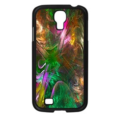 Fractal Texture Abstract Messy Light Color Swirl Bright Samsung Galaxy S4 I9500/ I9505 Case (black)