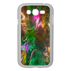 Fractal Texture Abstract Messy Light Color Swirl Bright Samsung Galaxy Grand DUOS I9082 Case (White)